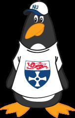 Percy the Penguin cartoon mascot