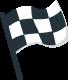 Checkered race 'finish' flag