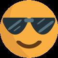 """Cool"" face emoji icon"