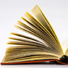 An open book with pages 'leafed' open